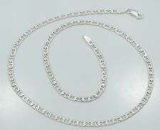 Sterling Silver Reversible Diamond Cut 20 Inch Mariner Chain Necklace B3780