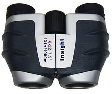 INSIGHT® 8x22 Compact Porro Prism Binoculars. Bird watching, nature and travel