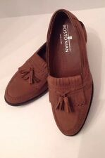 Bostonian Brown Sued Tassel Loafers Mens Size 7.5 Really Nice Condition!