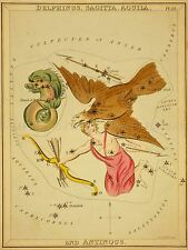 PAINTINGS DRAWING STAR MAP SAGITTA EAGLE CONSTELLATION ART POSTER PRINT LV3138