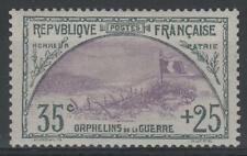 """FRANCE STAMP TIMBRE N° 152 """" ORPHELINS 35c+25c TRANCHEE DRAPEAU """" NEUFxxSUP N062"""