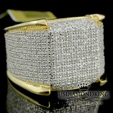 Men's 10k Yellow Gold 1.15ct Genuine Real Diamond Iced Pinky Ring Eternity Band