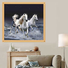 DIY Embroidery Animal 5D Diamond Painting Cross Stitch White Horse Home Decor