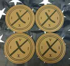 "CIA DevGru 160th Operation Neptune Spear 4"" Dark Brown Leather Coaster Set of 4"