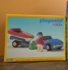 NEW Playmobil Car Towing Trailer Speed Water Boat Floating Man Lego Toy Set 6706