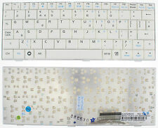 WHITE ASUS EeePC Epc 700 701 900 901 900HD 2G Tastiera UK layout V072462AK1 F136