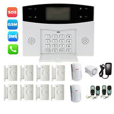 New LCD Wireless GSM Autodial Home House Office Security Burglar Intruder Alarm