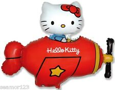 1 X hello kitty plane RED  Foil Balloon  Supershape WHOLESALE flexmetal 901720