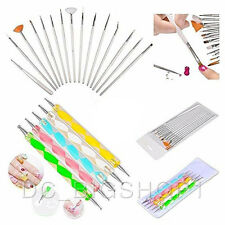 20pc Nail Art Manicure Pedicure Painting Polish Brush and Dotting Pen Tools Set