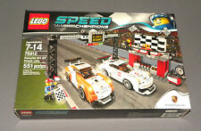 LEGO Speed Champions Porsche 911 GT Finish Line Set 75912 w 2 Race Cars NEW