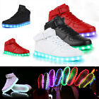 LED Flashing Light Lace Up Luminous Shoes Men Women Casual Sneakers High Top