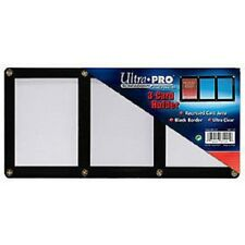 Ultra Pro 4-Screw 3-Card Black Border Screwdown Card Holder Recessed Ultra Clear