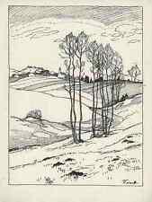LETZTER SCHNEE - Rudolf SIECK - Prien - Strichätzung 1928 HEYDER.