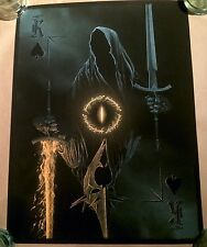 Lord of the Rings LOTR Poster Art Print Marko Manev Witch King Angmar King Spade