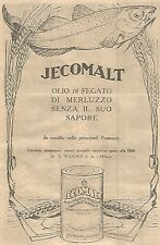 W4258 Olio di fegato di merluzzo JECOMALT - Pubblicità del 1930 - Vintage advert