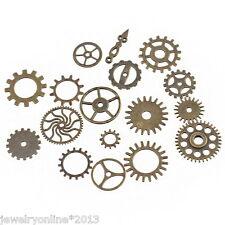 17 Mix Bronze Zahnrad Vintage Charms Anhänger Uhrenteile Uhrenersatzteile