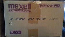 "Used ""Blank"" Maxell Pro Betacam SP Case of 10 Tapes - 90ML 90 Minute Large"