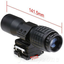 Zoom 5X Magnifier Scope Civil Telescope Tactical Mount Hunting For Gun Aimpoint