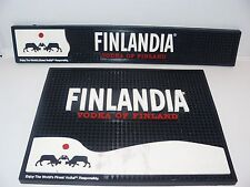 2 Finlandia Vodka of Finland Bar Mats NEW With Issues