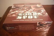 Unique Word Spot Collectible Wood Box Edition Hidden Word Game For 2 Players NEW