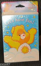 NEW 8 CARE BEARS PARTY INVITATIONS ENVELOPESPARTY SUPPLIES BABY SHOWER FAVORS