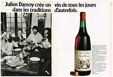 PUBLICITE ADVERTISING  054  1977   JULIEN DAMOY   vin de table  ( 2 pages)