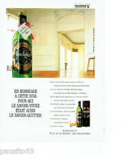 PUBLICITE ADVERTISING 086  1987  Glenfiddich  whisky hommage  à la Diva