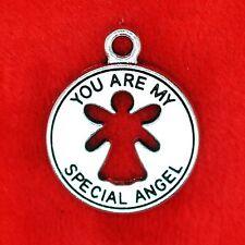 """4 X Plata Tibetana """"tú eres mi especial Angel encanto colgante la fabricación de joyas"""