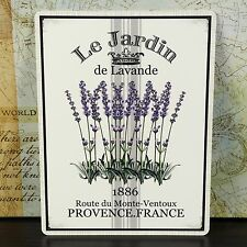 LAVENDER PROVENCE FRENCH FLOWER VINTAGE METAL WALL SIGN PLAQUE SHABBY CHIC RETRO