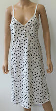 M&S Archive Alexa Chung Olive Cream Slip Dress Size 10 Vintage Retro BNWT £39.50