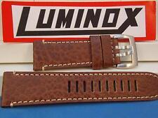 Luminox Watchband Series 1860 Brown Buffalo Leather w/White Stitching 26mm Strap