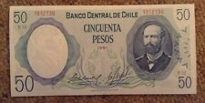 Billete De Chile. 50 Pesos. UNC. fechada 1981.