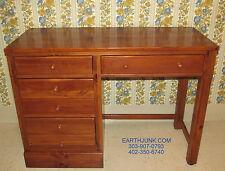 "Ethan Allen 42"" Desk Country Craftsman Antiqued Pine Custom Room Plan 10 4024"
