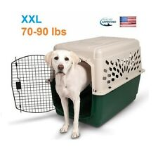 XL Dog Kennel Portable Travel Crate Pet Carrier Airline Approved Safe Cage Large