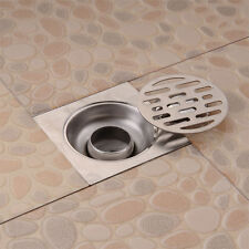 Stainless Steel Balcony Bathroom Shower Square Strainer  Waste Grate Floor Drain