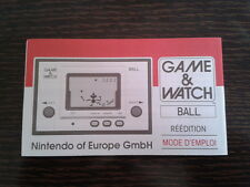 NINTENDO GAME & WATCH BALL REEDITION CLUB NINTENDO FRENCH INSTRUCTION MANUAL