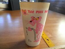 1974 The Pink Panther Sizzler steak house plastic cup HTF