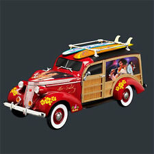 Aloha Hawaii Wood Wagon Elvis Replica Car Figurine - Bradford Exchange