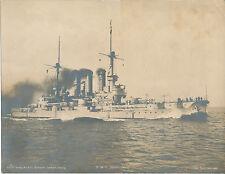 S.M.S.  Braunschweig  Kaiserlische  Marine  1905  WW1 Gross  Foto  20 X 26 cm  R