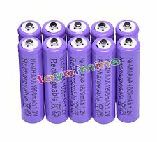 10x AAA 1800mAh 1.2V Ni-MH Rechargeable battery 3A Purple Cell for MP3 RC Toys