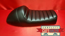 LS7 BRAT SCRAMBLER TRACKER CAFE RACER SEAT BLACK FINISH LEATHERETTE