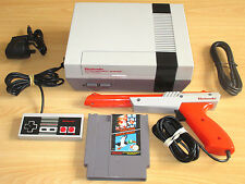 NINTENDO NES CONSOLE SET - 1 Pad + Zapper Gun + Super Mario Bros / Duck Hunt