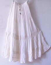 NEW~Ivory Crochet Lace Vintage Peasant Prairie Boho Dress-Skirt~8/10/M/Medium