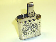 VINTAGE POCKET WICK LIGHTER WITH 925 SILVER CASE & UNUSUAL TECHNIQUE - VERY RARE