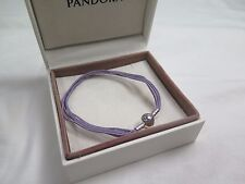 New Pandora Lavender Small Multi Strand Cord Bracelet 590715CLAM M1 Gift set opt