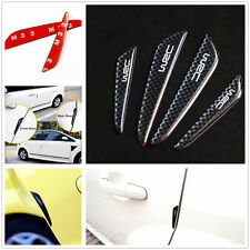 4Pcs Car Bumper Front&Rear Rubber Door Black Protector Crash Bar Anti-rub Strips