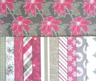 "12 sheets 6x6"" SCRAPBOOK PAPER - DOVECRAFT BACK TO BASICS TRADITIONAL CHRISTMAS"