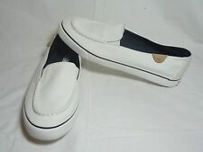 Sperry Top-Sider White Canvas Slip On Shoes 10M NEW   STORE CLOSING SALE!