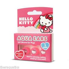 AQUA EARS HELLO KITTY Silicone Reusable Noise Swim EAR PLUGS KID Naps Bathtime