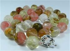 New 10mm Faceted Watermelon Tourmaline necklace 18''